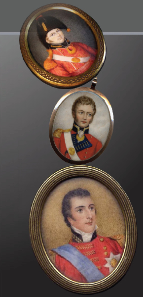 Portrait Miniatures. Military & Naval.