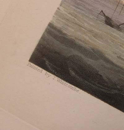 Jenkins' Naval Achievements. Aquatint 1817. Lord  Hotham's Action.