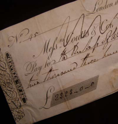 Wellington Coutts Cheque