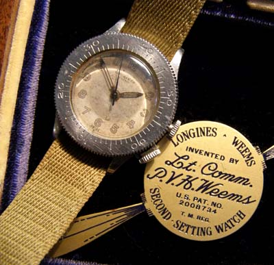 Longines Weems Watch | Second-Setting. | With Exceptionally Rare Storage Case.