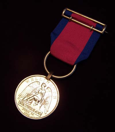 Waterloo Medal. Charge of The Union Brigade.  6th Inniskilling Dragoons.