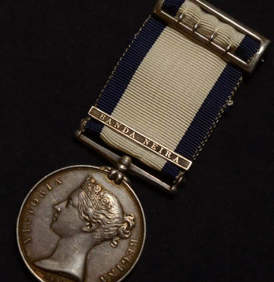 Naval General Service Medal | Banda Neira Clasp | Wounded In Action.