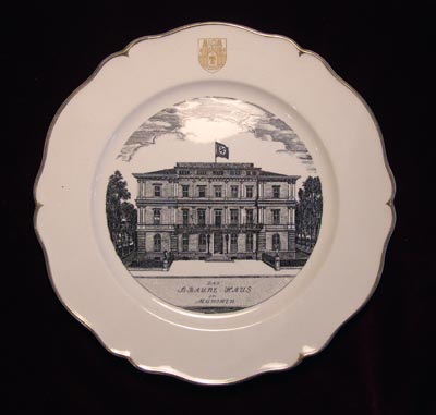 Hitler's Brown House Headquarters | Special Subscription Porcelain Presentation Plate.