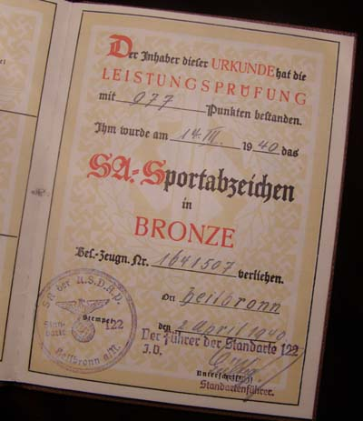 SA Sportsabzeichen - Citation & Related Documents.
