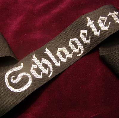 SA Honour  Cuff Title 'Schlageter'.