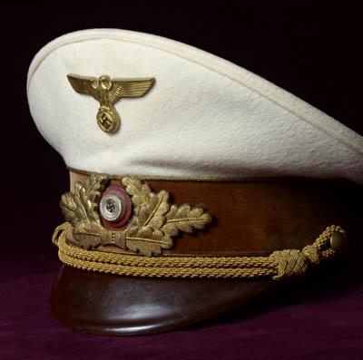Nsdap Reichsleiter Visor Cap White Summer Version