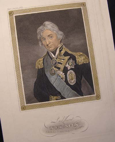 Admiral Nelson - Hand Coloured Engraving  - Meyer 1850