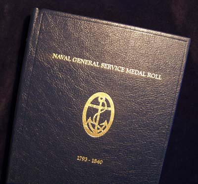 Naval General Service Medal Roll 1793 - 1840 - Leatherbound.
