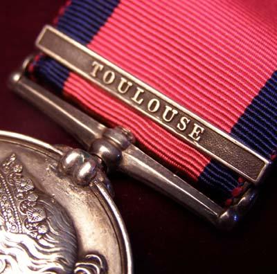 Military General Service Medal. Toulouse Clasp. 5th Dragoon Guards.