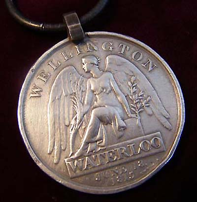 Waterloo Medal. 1st Regiment  Life Guards. Wounded.