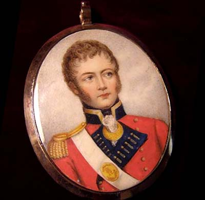 Portrait Miniature | Waterloo & Peninsular Period |  Officer | 42nd Highland Regiment.