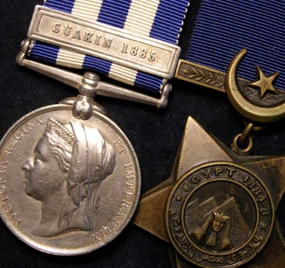 Egypt Medal & Star. 1/ Shropshire Light Infantry.