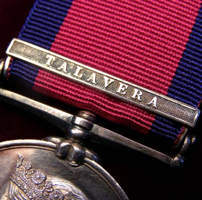 Military General Service Medal. Talavera Clasp. 23rd Light Dragoons. Wounded & Imprisoned.