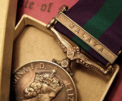 General service Medal | Malaya Clasp | Boxed | Documents