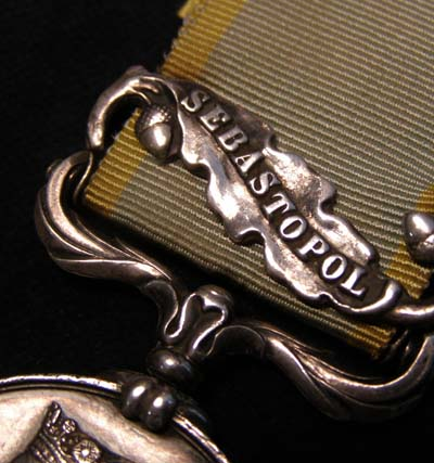Crimea Medal. Sebastopol Clasp. Royal Scots. Wounded