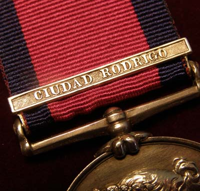 Military General Service Medal. Ciudad Rodrigo Clasp. 77th Regt. Foot.