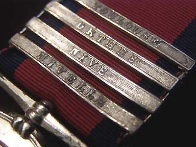 Military General Service Medal 4 clasps. Toulouse. Orthes. Nive. Nivelle. Private Alexander Munro.