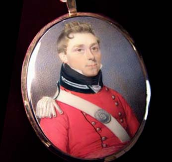 Military Portrait Miniature | Officer. 45th Regiment Foot | Circa 1814.