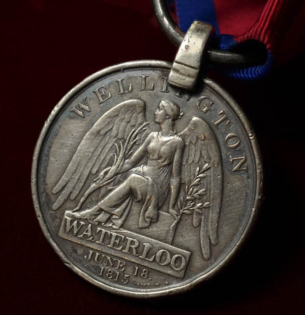 Waterloo Medal | 95th Regt | Wounded At Waterloo.