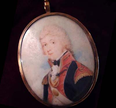 Military Portrait Miniature | David Gibson | 1796.