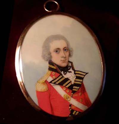 1804 Military Portrait Miniature. Officer  58th Regt.Foot By Frederick Buck