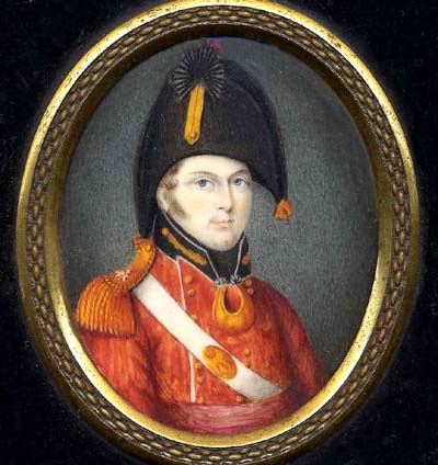 Military Portrait Miniature by Albin Roberts Burt.