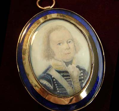 Portrait Miniature |  Lieutenant Fitzergerald |11th Light Dragoons.