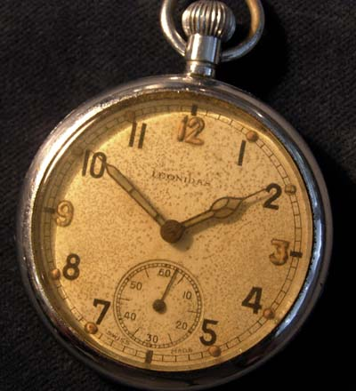 Leonadis Pocket Watch. WW2 British Army 'G.S.T.P'.
