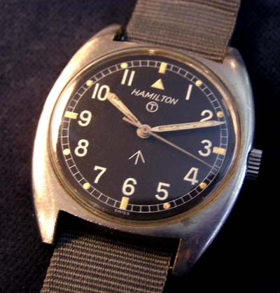 British Army Service Watch By Hamilton.  W10 Contract.