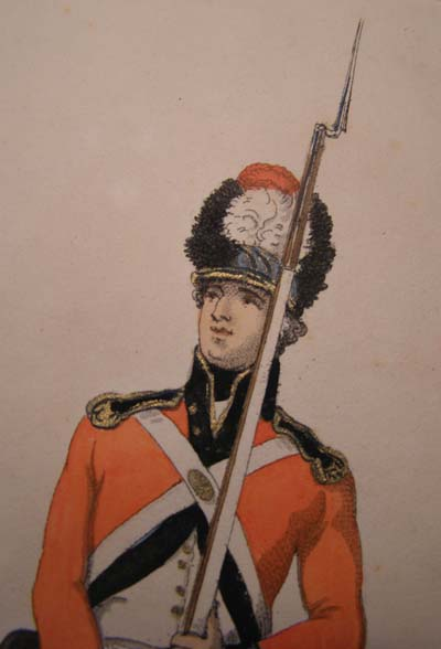 A Volunteer with the Temple Association Militia, aquatint by Delin 1798