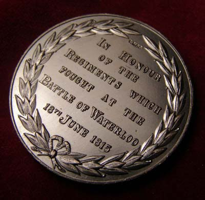 Battle of Waterloo 150th Anniversary medallion struck for the Guildhall Banquet in 1965
