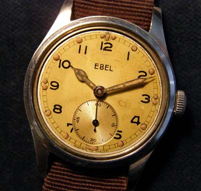 British Army Contract Watch By Ebel. WW2.