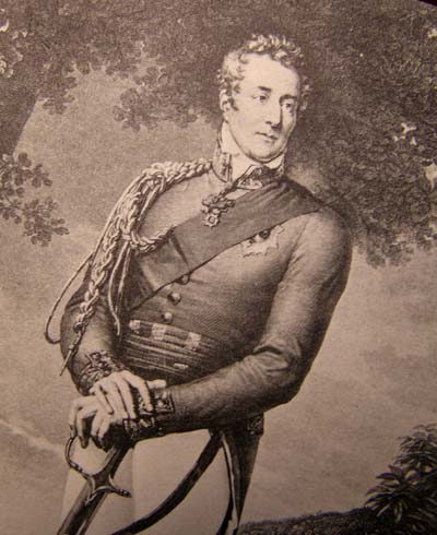 Duke of Wellington Holding His Sword. Circa  1900. Based On An Original Engraving.