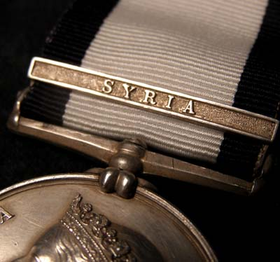 Naval General Service Medal. Syria Clasp. Volunteer 1st Class.