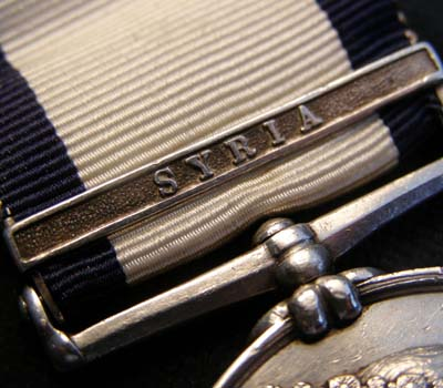Naval General Service Medal. Syria Clasp. Royal Marine. HMS Asia.