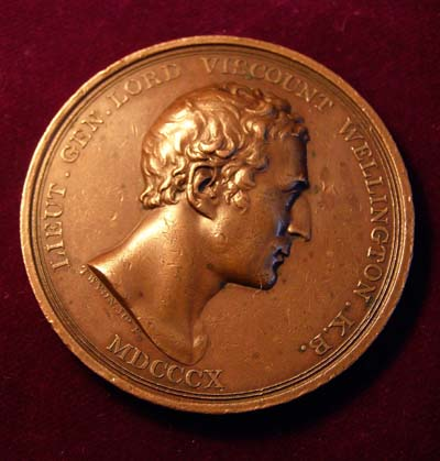 Wellington Peninsular War British-Spanish Alliance Medallion