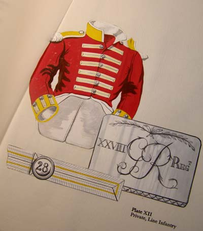 Military Fashion at Waterloo. Hand-painted Plates. Unique Book