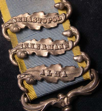 Crimea Medal. Three Clasps. Surgeon. 47th Regiment of Foot.