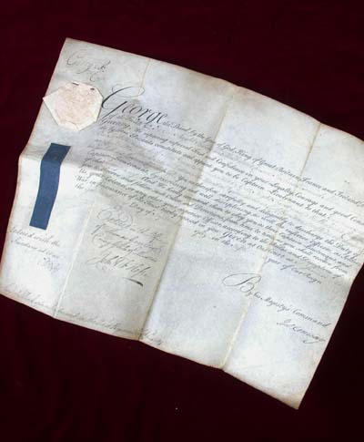 Napoleonic Commission Document for Captain Lieutenant Lord Viscount Allen - 1st Regt.Foot Guards