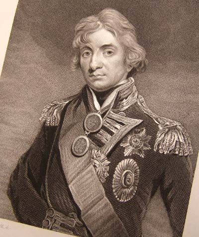 Admiral Nelson - Fine Engraving published by Fisher & Sons 1829