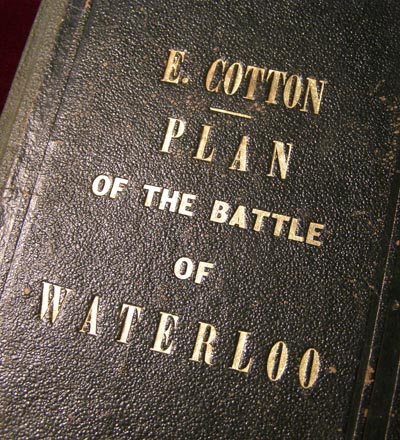 Plan of the Battle of Waterloo - Sergt.Major Edward Cotton - Rare.