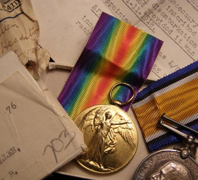 WWI Medal Pair. Boxed. Middlesex Regiment.