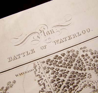 Plan of the Battle of Waterloo Published 1816