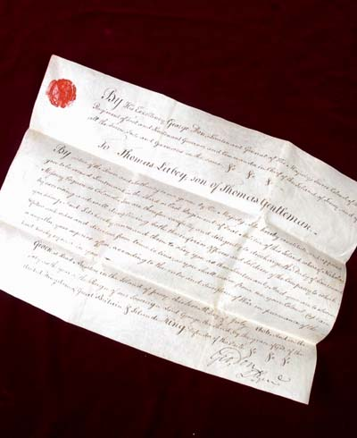 Napoleonic Commission Document for Lieutenant Thomas Labey - 1806 - Jersey Militia