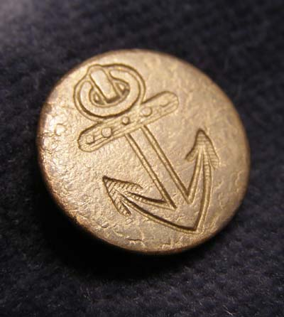 Napoleonic Royal Navy Cuff Button Rank of Officer - 1793