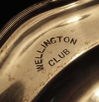 Duke of Wellington - Wellington Club Silver Salver Manufactured by Mappin & Webb