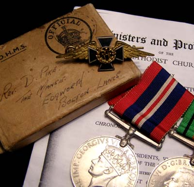 RAF Medals. Boxed  + Insignia.