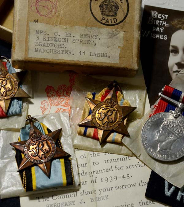 RAF Medals | Killed In Action | Sgt. Air Gunner | Lancasters