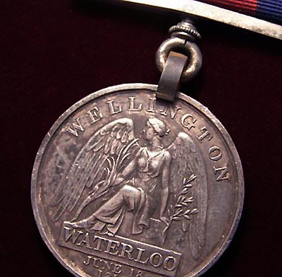 Waterloo Medal. Union Brigade.  Surgeon, 6th Inniskilling Dragoons.