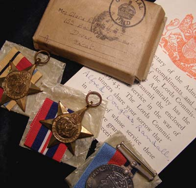 Royal Navy Medals. Boxed. Killed in Action. U-Boat Attack.